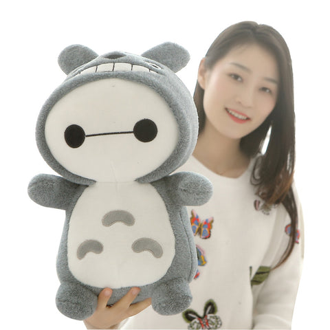 Baymax Wearing Totoro Jacket Plush Toy