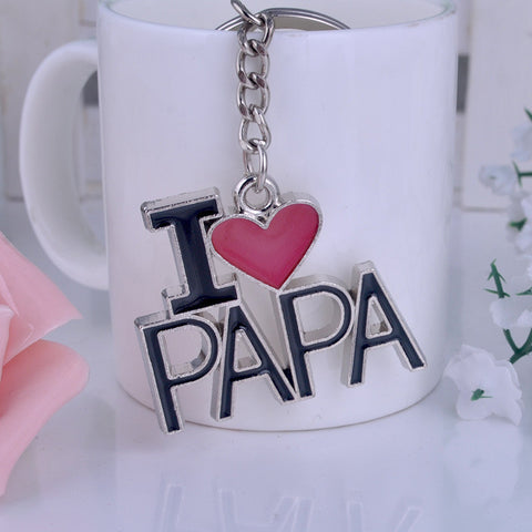 I LOVE PAPA Letter Key Chain