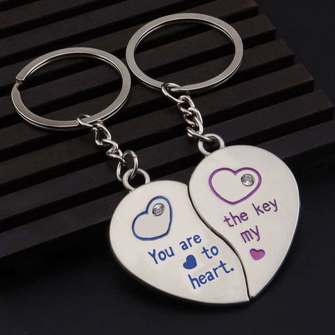 'You are the Key to My Heart' Couple Key Chain