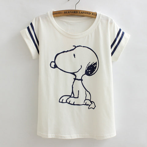 Snoopy Loose Casual Tees