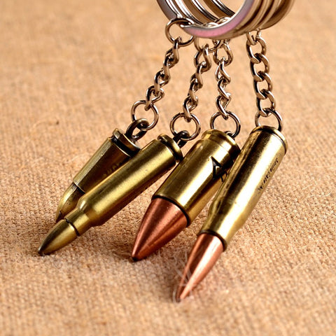4cm Fashion Antique Bronze Plated Bullet Metal Key Chain