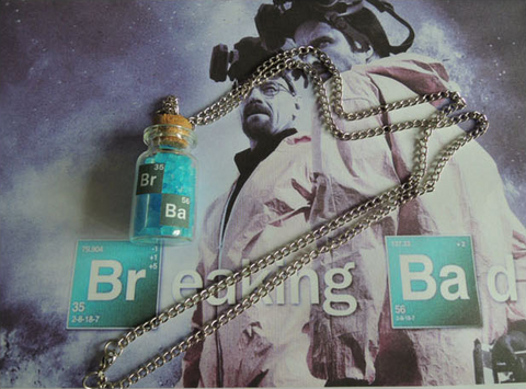 Breaking Bad Crystal Bottle Necklace