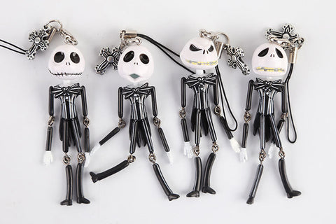 4 pieces Nightmare Before Christmas Action Figure Keychain