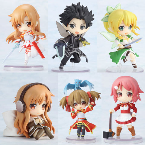 6Pcs Sword Art Online Action Figures