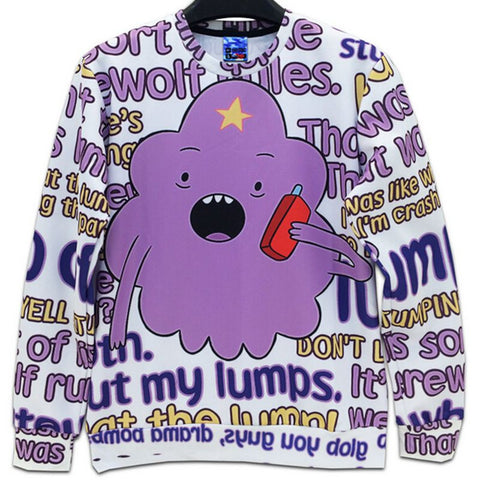 Adventure Time Lumpy Space Princess Pullover