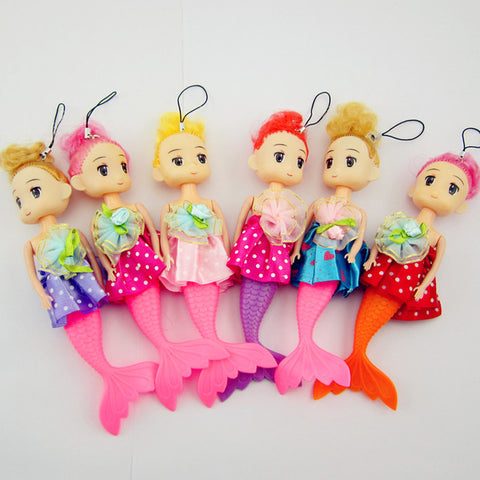 Cute Princess Mermaid Doll Pendant