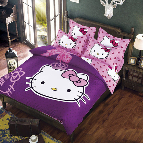 Purple Hello Kitty Bedding Set