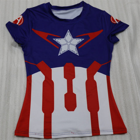 Captain America Quick Drying Women's Top