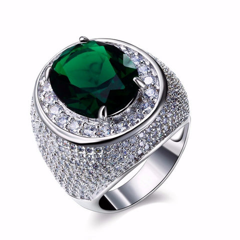 Luxurious Allergy Free Elegant Emerald Mermaid Ring