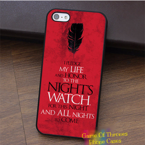 Game of Thrones Night's Watch Oath iPhone Case