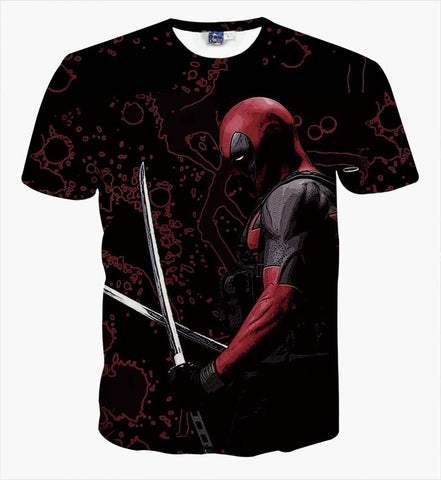 Deadpool Katanas T Shirt