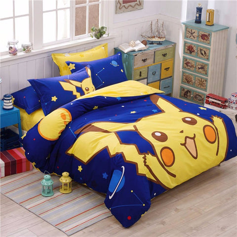 Pikachu in the Late Night Bedding Set