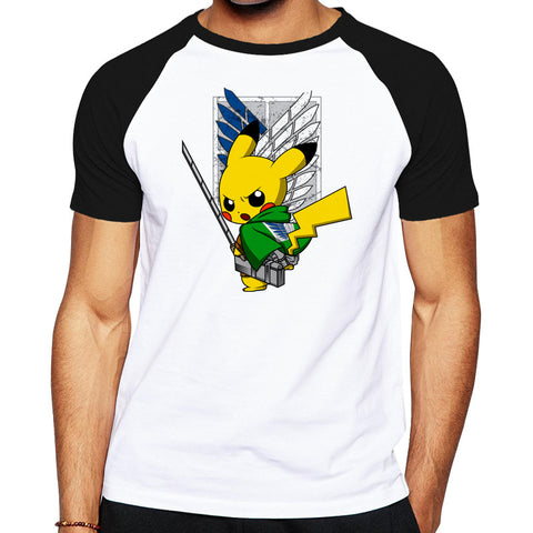 Attack on Titan with Pikachu Shirt