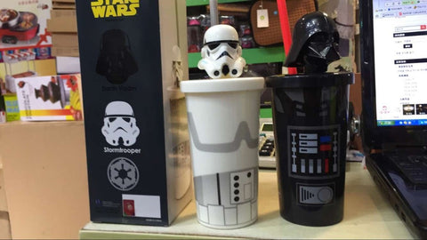Star Wars Darth Vader Clone Trooper Cartoon Cup with Straw