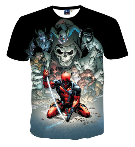 Deadpool Comic Art T Shirt