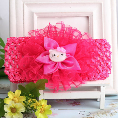 Hello Kitty Headband Scrunchy Chiffon Flower