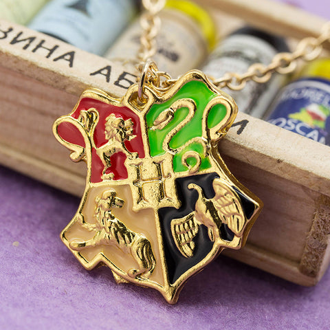Hogwarts School Badge Necklace