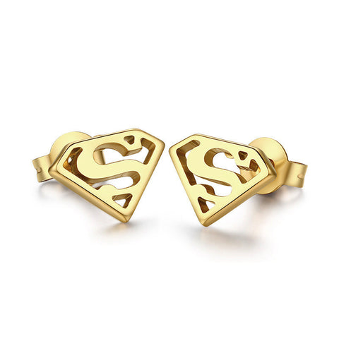 Super Man Cute Stud Earring