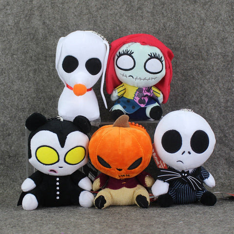 5pcs Nightmare Before Christmas Stuffed Doll Characters