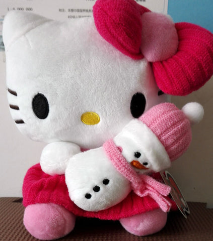 Hello Kitty Snowman Plush Doll