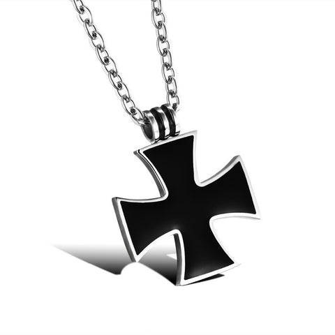 Classical Black Cross Necklace