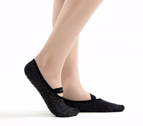 Silver Fibre Ladies Floor Outdoor Pilates Ballet Socks