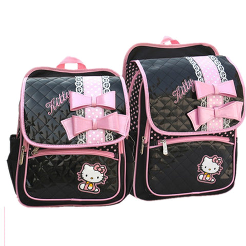 Hello Kitty Black Leather Backpack