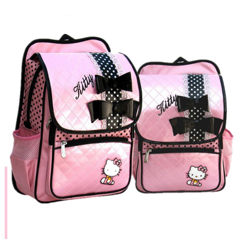 Hello Kitty Pink Leather Backpack