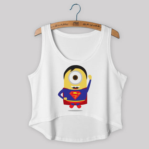 Minion Superman Crop Top
