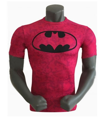 Batman Logo Red Fitness Shirt
