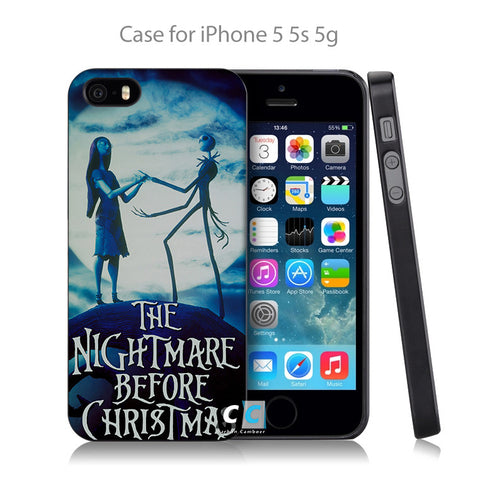 Nightmare Before Christmas Jack And Sally Hard Black Case Cover