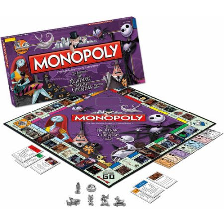 The Nightmare Before Christmas Collector's Edition Monopoly Board Game