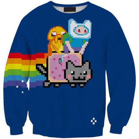 Adventure Time with Nyan Cat Sweatshirt