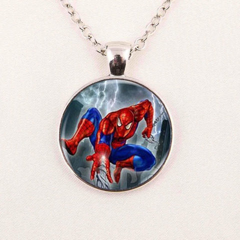 The Amazing Spiderman Cabochon Necklace 01