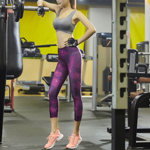 Fitness Print Yoga Pants High Elastic Quick Dry Running Pants