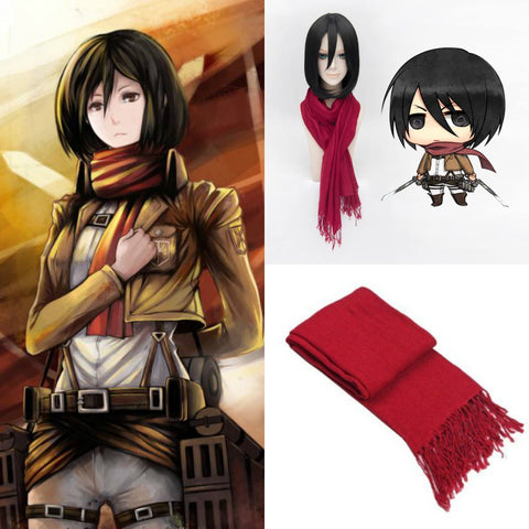Attack On Titan Mikasa Ackerman Cashmere Scarf