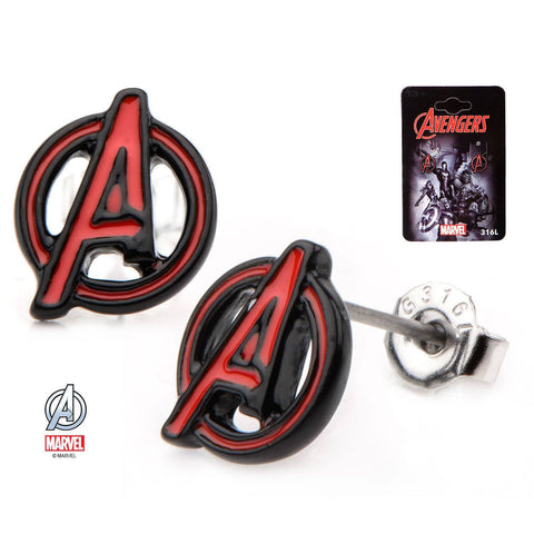 "Avengers Red ""A"" Logo Stud Earrings"