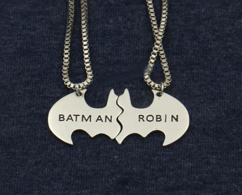 Batman And Robin Lovers' Necklace