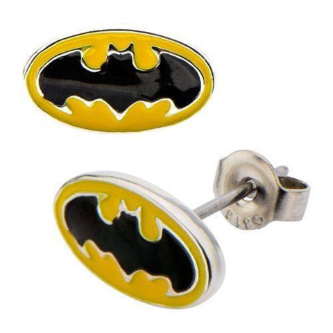 Batman Logo Stud Earrings