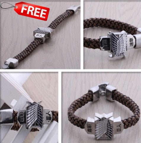 Bracelet - Attack On Titan Rope Chain Bracelet Shingeki No Kyojin