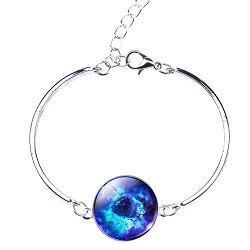 Bracelet - Glass Galaxy Moon Bracelet: Special Edition