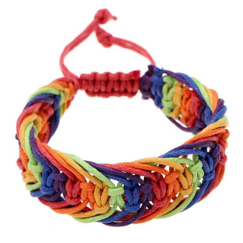 Bracelet - Rainbow Color Gay Pride Charming Friendship Bracelet
