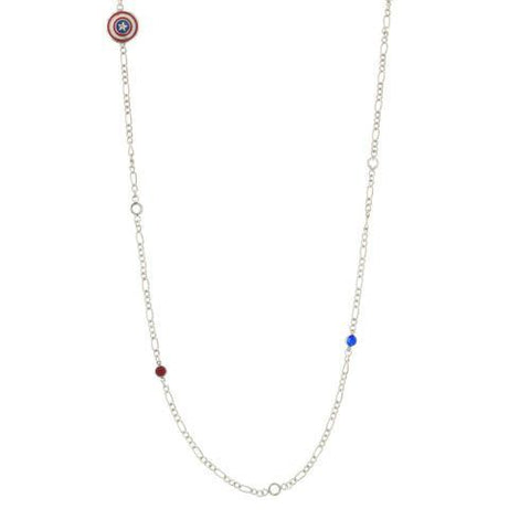 Captain America Bead Necklace