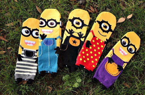 Cartoon Printed Minion Socks