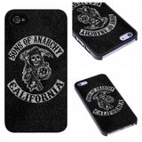 Cell Phone Case - Custom Made Sons Of Anarchy Cell Phone Hard Case For IPhone 4 4S 5 5S 5C 6 6 PLUS
