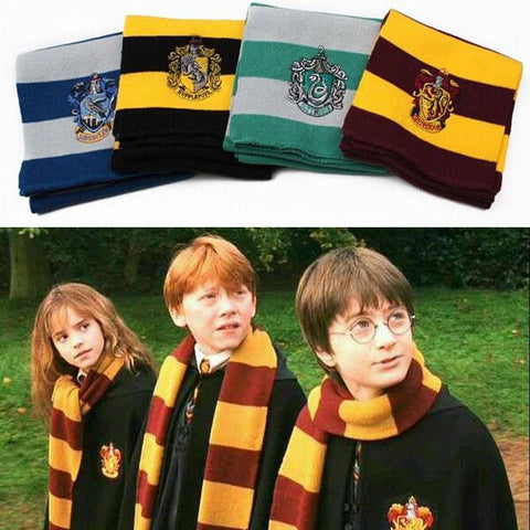 Clothing - Harry Potter Gryffindor, Hufflepuff, Slytherin Or Ravenclaw Scarves
