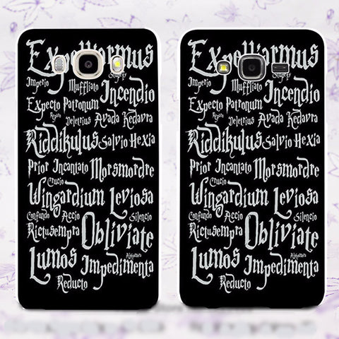 Harry Potter Magic Spells Samsung Phone Case