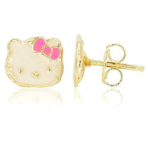 Hello Kitty Gold 18k Earrings