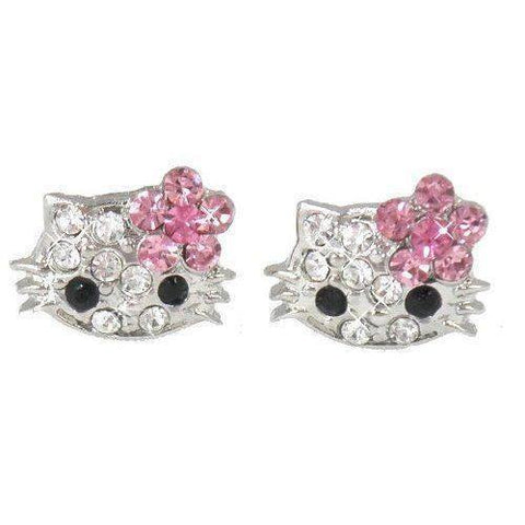 Hello Kitty X-Small Pink Crystal Stud