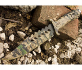 "Knife - 10.5"" Camo Tactical Combat Bowie Hunting Military Knife"